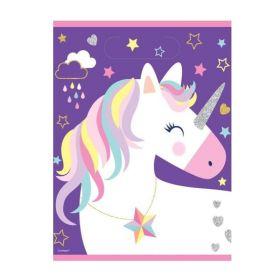 Unicorn Birthday Party Bags, pk8