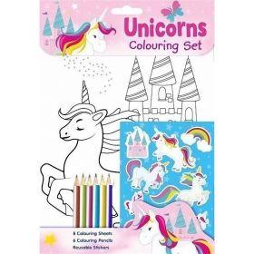 Unicorns Colouring Set