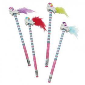 Feather Tail Unicorn Eraser Topper Pencil