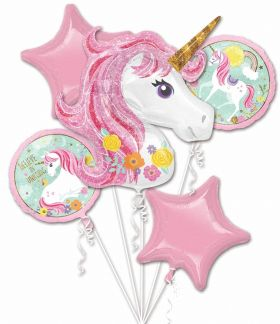 Magical Unicorn Foil Party Balloon Bouquet