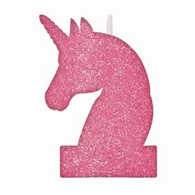 Magical Unicorn Glitter Candles 8cm x 13cm