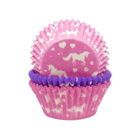 Unicorn Sparkle Cupcake Cases pk75