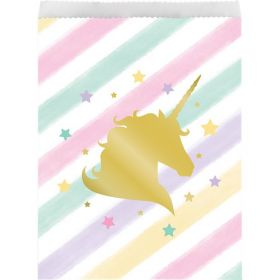 Unicorn Sparkle Foil Stamp Treat Bags pk10