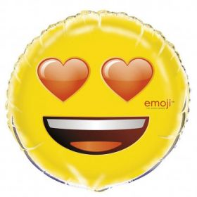 Emoji Heart Eyes Foil Balloon 18''