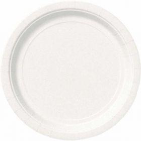 """Bright White 9"""" Plates pk16"""