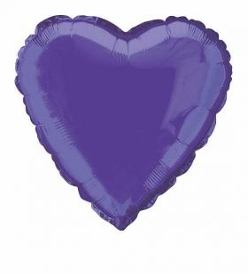 Deep Purple Heart Foil Balloon