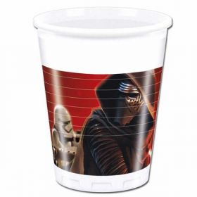 Star Wars Episode VII Plastic Cups pk8