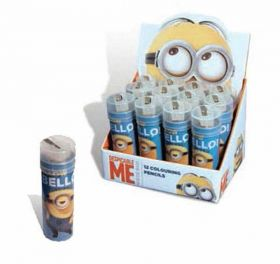 Minions Colour Pencils & Sharpener