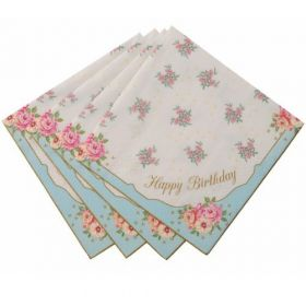 Utterly Scrumptious Happy Birthday Party Napkins 20pk