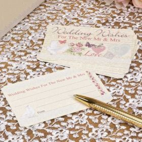 With Love Wedding Wishes Cards pk25
