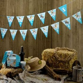 Wild West Cowboys Happy Birthday Bunting