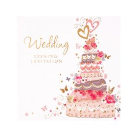 Wedding Evening Invitation Cards, pk6