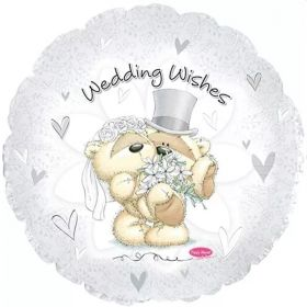 Fizzy Moon Wedding Wishes Foil Balloon 18""