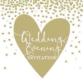 Wedding Evening Invite Cards pk6