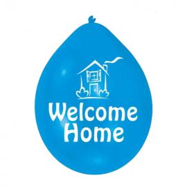 "Welcome Home Latex Balloons 9"", pk10"