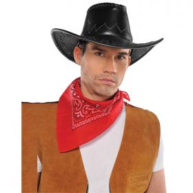 Western Cowboy Faux Leather Hat