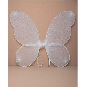 White Glitter Fairy Wings