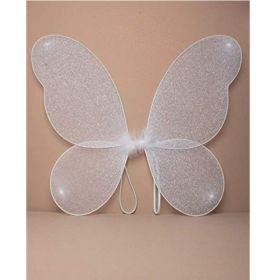 White Glitter Fairy Wings
