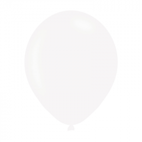 Pearlised White Latex Balloons 11""