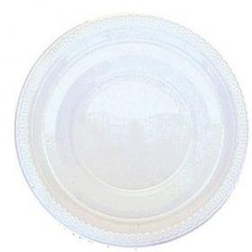 Frosty White Plastic Party Plates, 17.7cm, 20pk