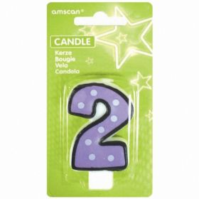 No.2 White Dots And Black Border Candle