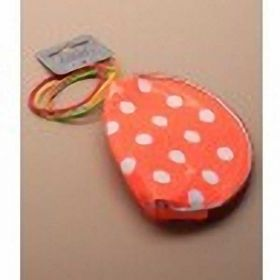 Coloured PVC Purses with white spots