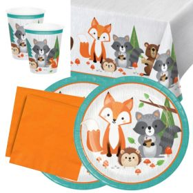 Woodland Animals Party Tableware Packs