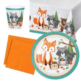 Wild Woodland Animals Party Tableware Pack for 8