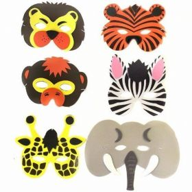 Safari Animal Party Mask, sold singly
