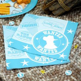 Wild West Cowboys Napkins pk20