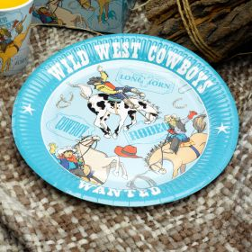 Wild West Cowboys Plates pk8