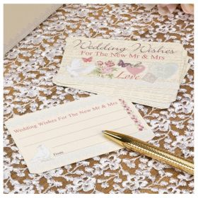 With Love Wedding Wishes Cards, pk25