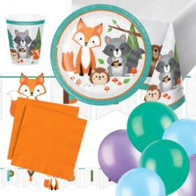 Wild Woodland Animals Party Ultimate Pack for 8