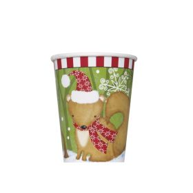 Woodland Christmas Cups 270ml, pk8