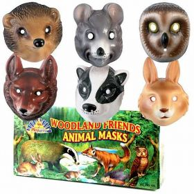 Woodland Friends Animal Masks, one supplied