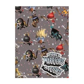 World of Warriors Gift Wrap & Gift Tag