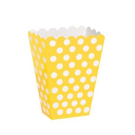 Yellow Polka Dot Party Treat Boxes