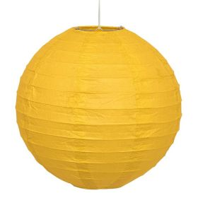 Yellow Round Lantern Party Decoration 25cm