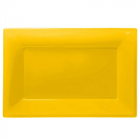 Yellow Plastic Serving Trays