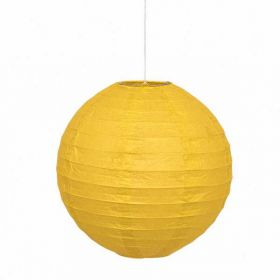 Round Lantern Yellow Party Decoration 10""