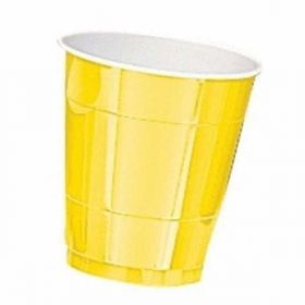 Sunshine Yellow Plastic Cups 20pk