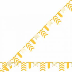 Sunflower Yellow Dots, Stripes & Chevron Pennant Banner