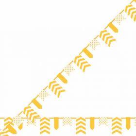 Sunflower Yellow Dots, Stripes & Chevron Pennant Banner