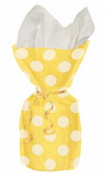 Yellow Polka Dot Party Cello Bags 20pk