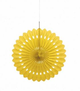 Decorative Fan Yellow Party Decoration 16""