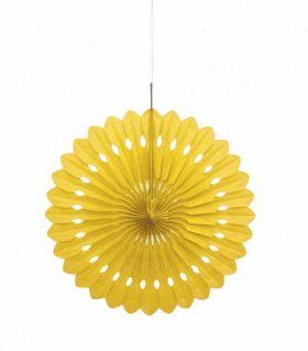 "Decorative Fan Yellow Party Decoration 16"""