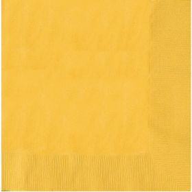 Sunshine Yellow Luncheon Napkins 33cm x 33cm, pk20