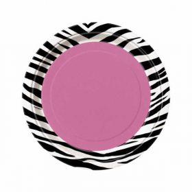 "Zebra Passion Party 7"" Plates 8pk"
