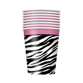 Zebra Passion Party Paper Cups 8pk