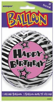 Zebra Passion Party Foil Party Balloon